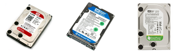 WD hard disk drives