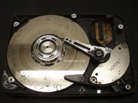 Head crash on a Hard Disk Drive