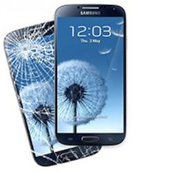 A broken Samsung mobile phone