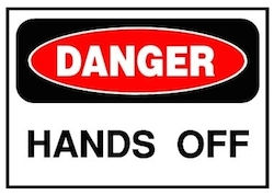 Hand Off sign