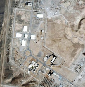 This recent undated satellite image provided by Space Imaging/Inta SpaceTurk shows the once-secret Natanz nuclear complex in Natanz, Iran, about 150 miles south of Tehran. AP Photo/Space Imaging/Inta SpaceTurk, HO