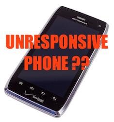 Unresponsive smartphone