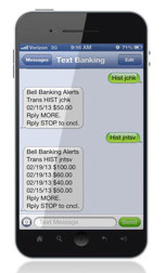 An example text message