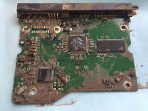 This a circuit board from a hard drive that had been left out in the rain. It was not working.