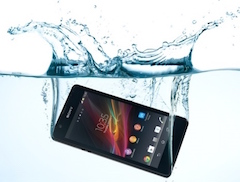 phone underwater
