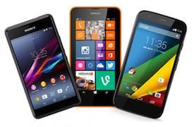 Different smartphones