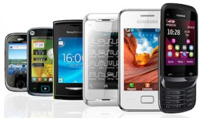 Many types of different phone