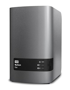 A WD My Book DUO NAS hard drive