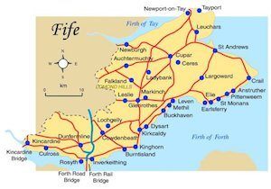 data recovery fife map