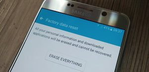 Android phone factory reset screen