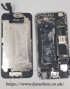 Water damaged phone recovery