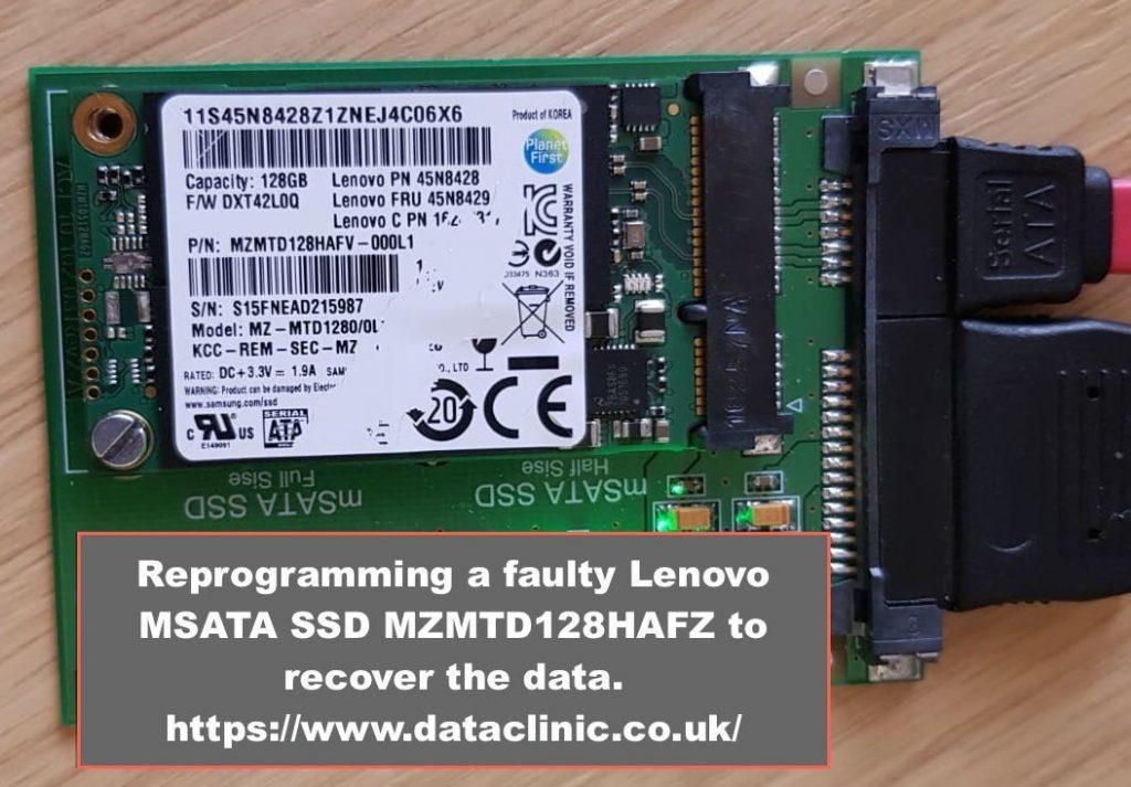 Data recovery Lenovo SSD