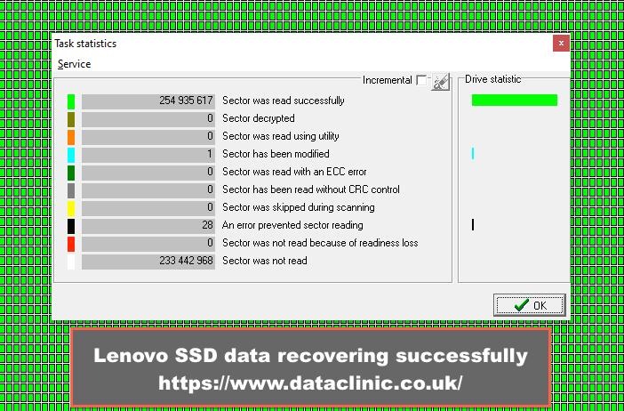 Lenovo SSD data recovery Data Clinic Ltd