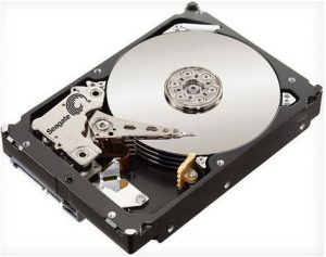 A Seagate hard drive